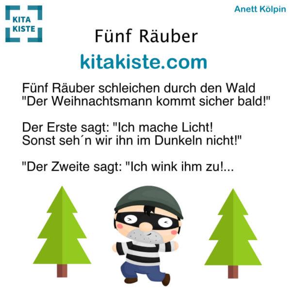 Fingerspiel Kindergarten Räuber lustig