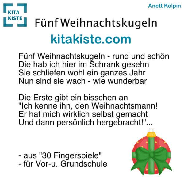 Fingerspiel Advent Weihnachten Kindergarten Grundschule