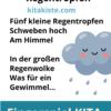 Fingerspiel Regen Kindergarten
