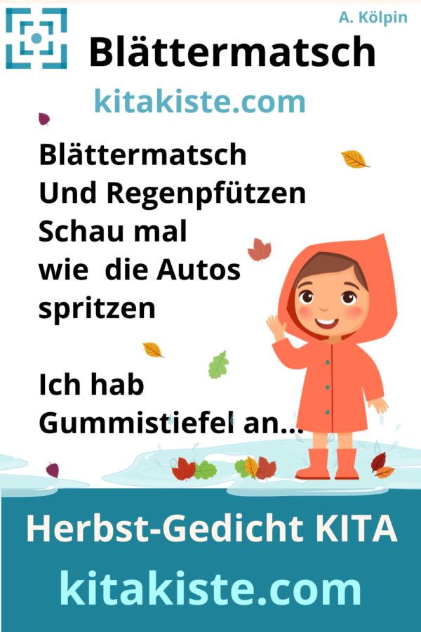 Herbstgedicht für Kindergarten