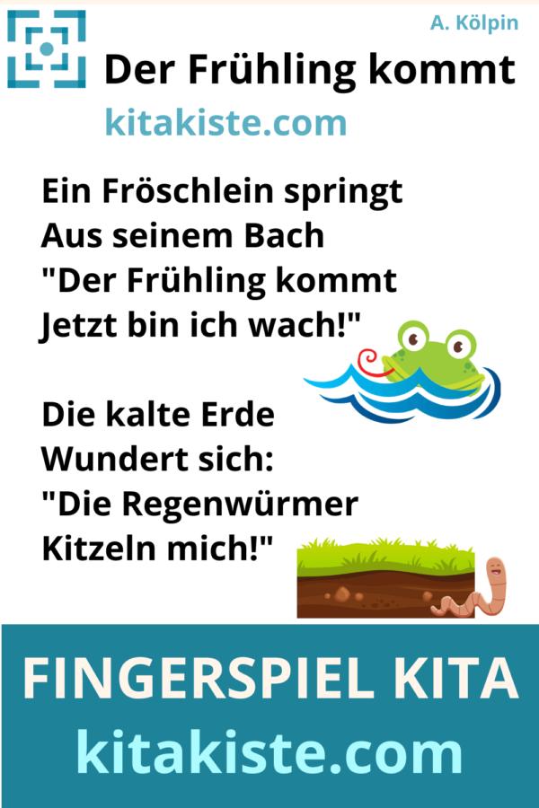 Fingerspiel Frühling Kindergarten Voransicht