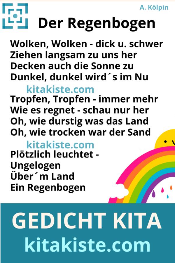Gedicht Regenbogen Kindergarten Voransicht