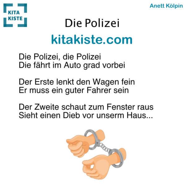 Fingerspiel Polizei Kindergarten