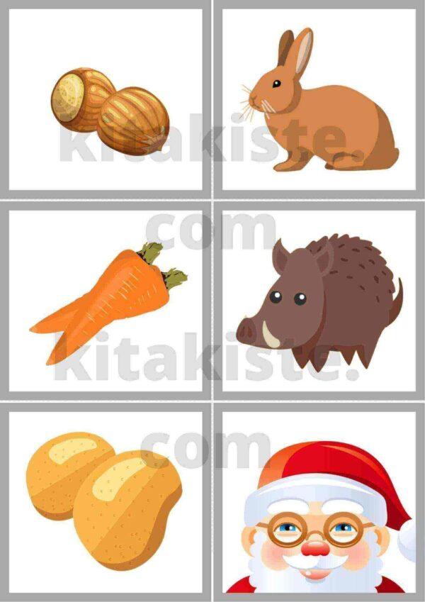 """Bildset Fingerspiel """"Die Tiere und der Weihnachtsmann"""""""