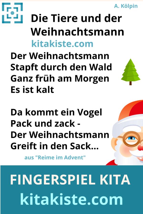 Fingerspiel Kindergarten Weihnachtsmann
