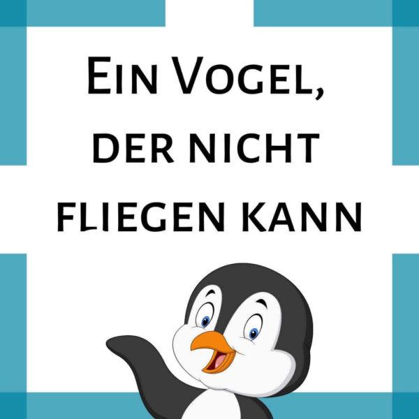 Rätselreim Pinguin Kindergarten Grundschule