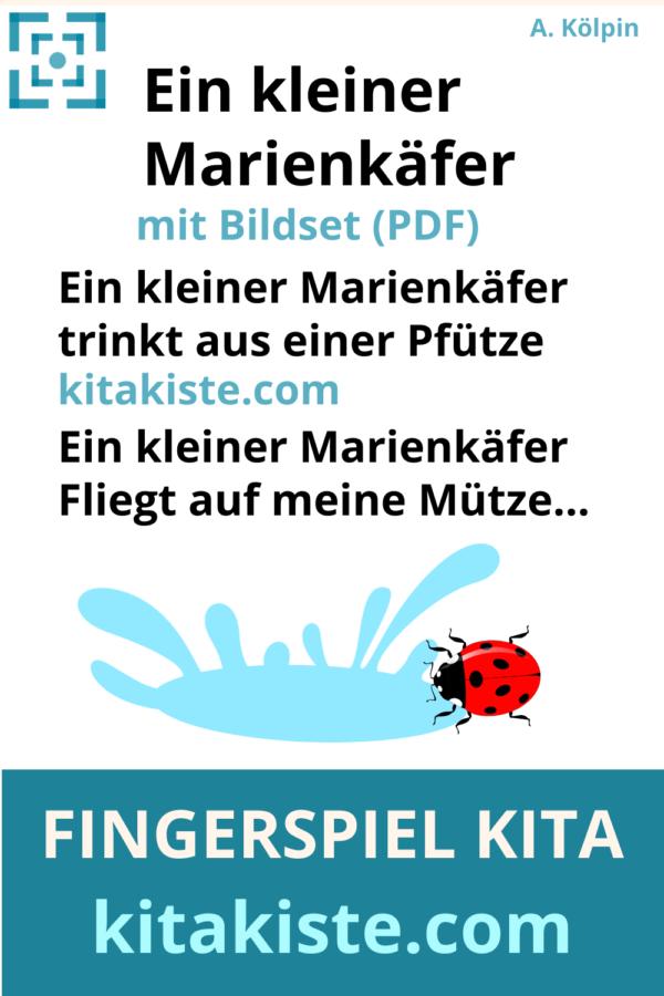 Fingerspiel Marienkäfer Kita Voransicht