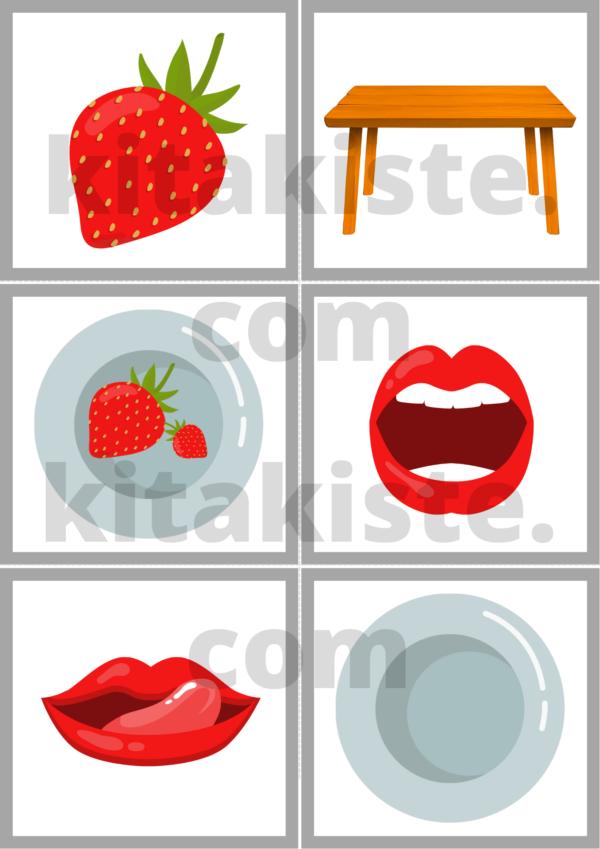 Bildset PDF Erdbeere Krippe