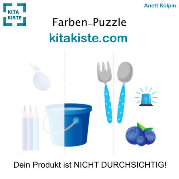 Farben-Puzzle Krippe Blau Voransicht