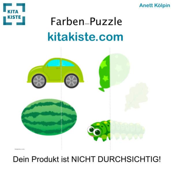 Farben-Puzzle Grün Krippe Voransicht