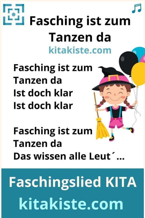 Faschinglied Bewegung Kindergarten