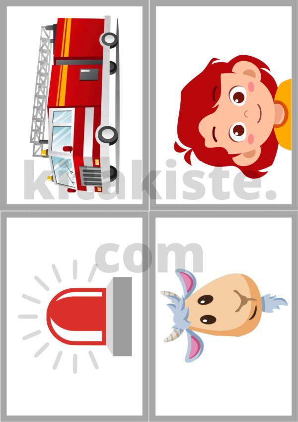 Bildset Feuerwehr Krippe