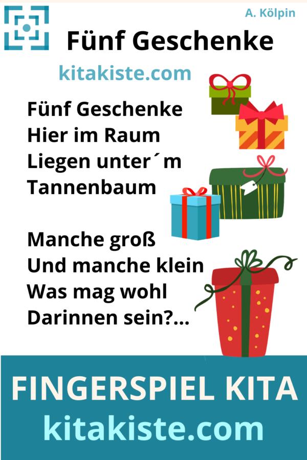 Fingerspiel Advent Weihnachten Kindergarten