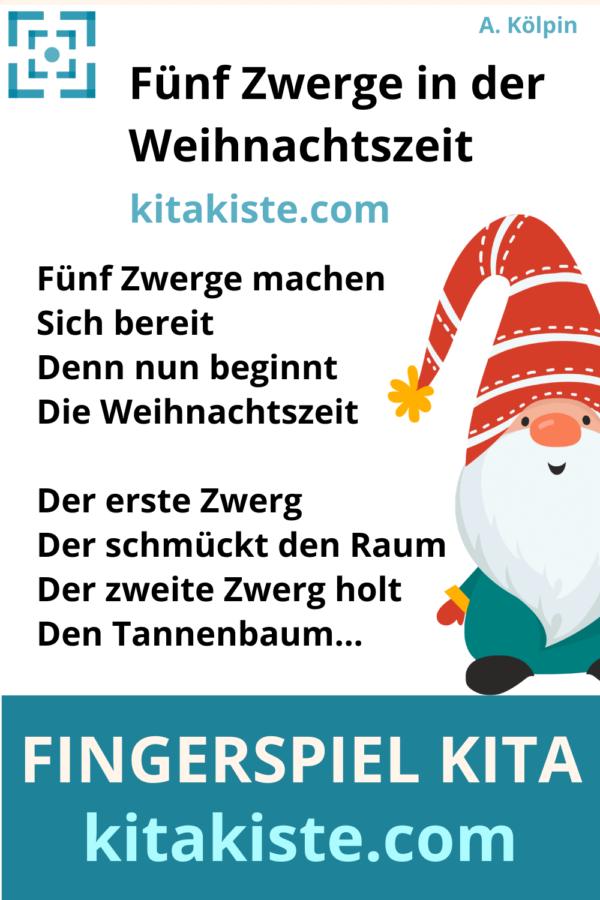 Fingerspiel Advent Kindergarten