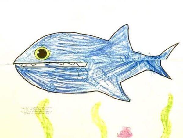 """Faltvorlage 1 zu """"Der Hai"""""""