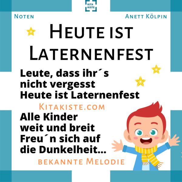 Laternenlied u3 Kindergarten bekannte Melodie Voransicht