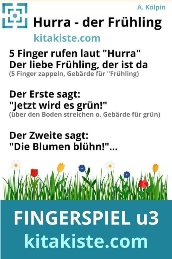 Fingerspiel Krippe Frühling Voransicht