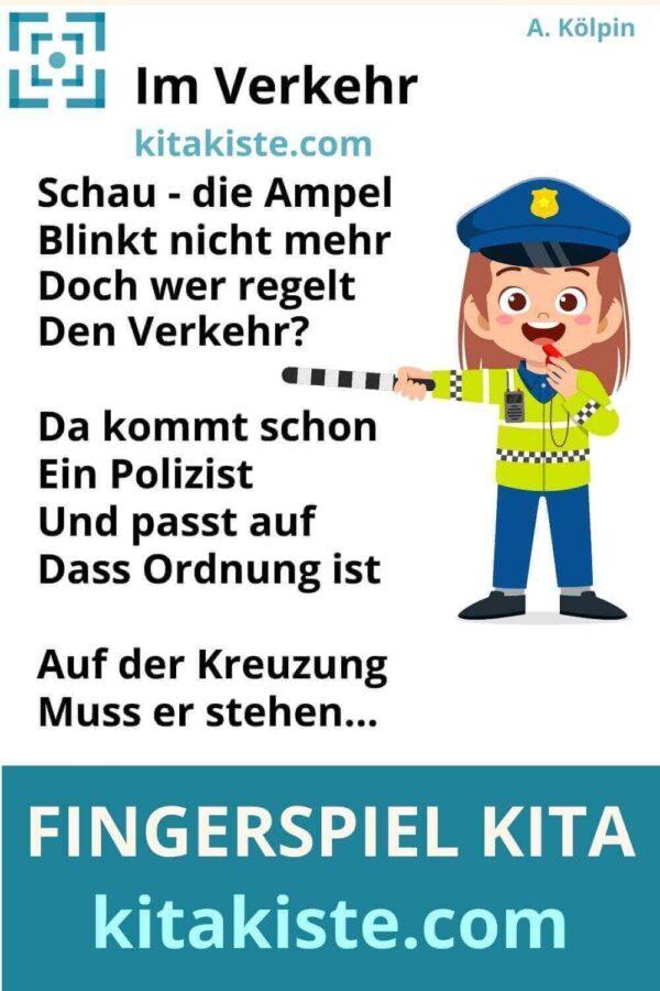 Fingerspiel Polizei Verkehr Kindergarten Voransicht