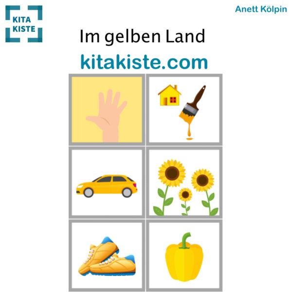 Fingerspiel Farbe Gelb Bildset