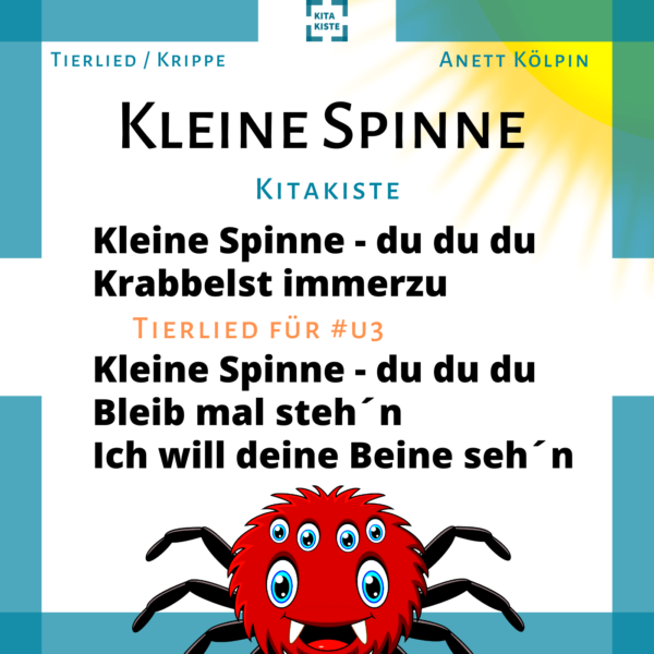 Kinderlied Krippe Spinne Voransicht
