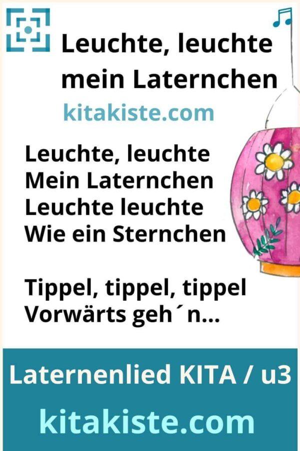 Laternenlied für Krippe und Kindergarten