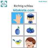 Bildset zum Fingerspiel Farbe Blau