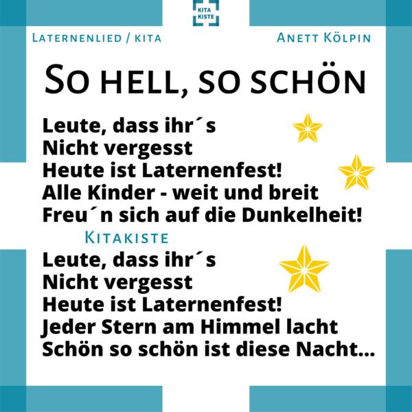 Laternenlied Kindergarten