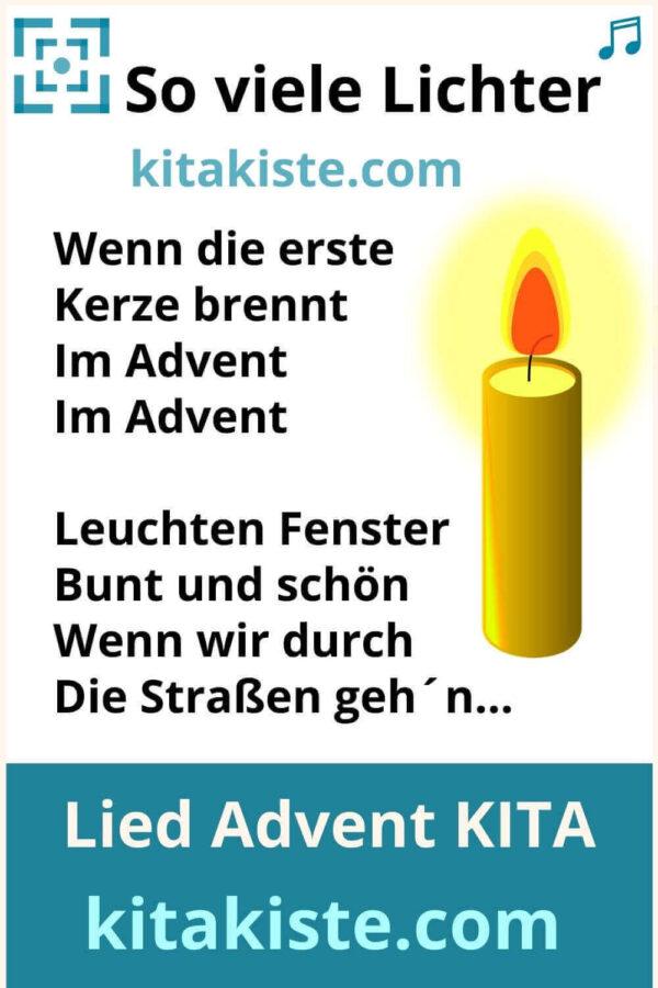Kinderlied Advent Kindergarten Grundschule
