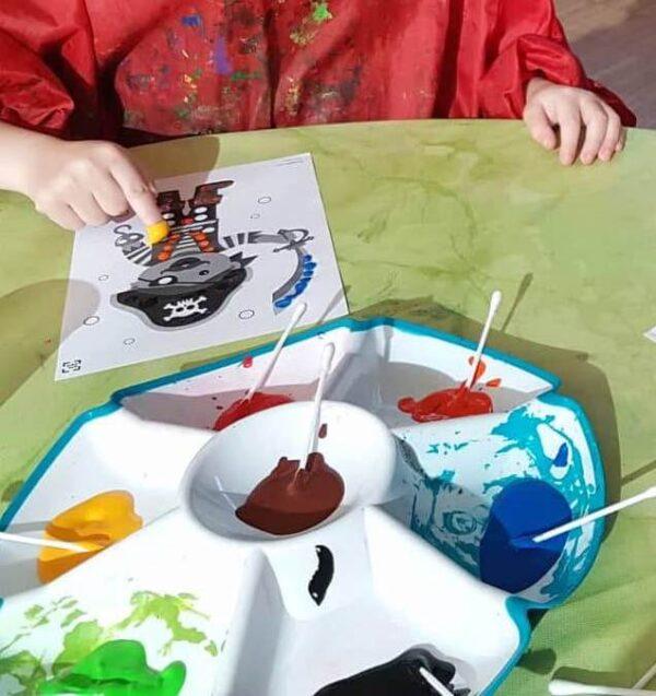 Tupfbilder Fasching Kindergarten