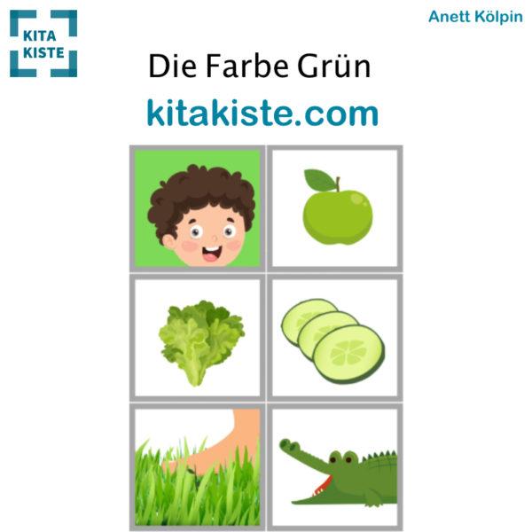 Fingerspiel Farbe Kindergarten Bildset Voranicht